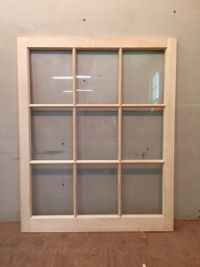 Custom wood awining window sash