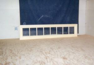 custom wood transom window unit