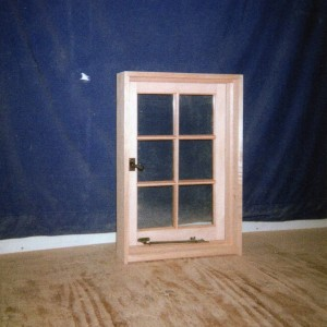 Custom wood tradidtional casement window
