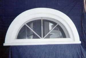 Arched top attic window unit