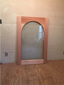 Custom wood arched top window sash
