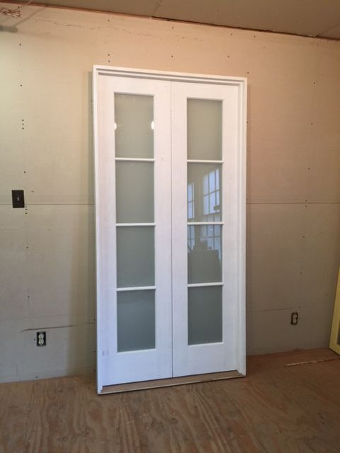 Custom Wood Double French Door Unit